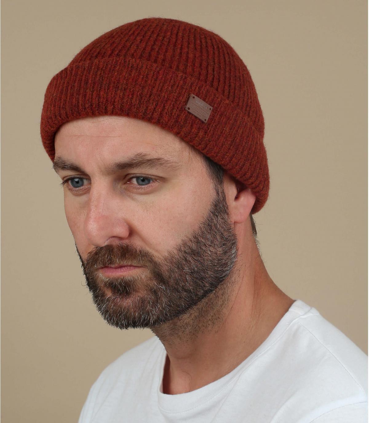 cappello di lana rosso yak