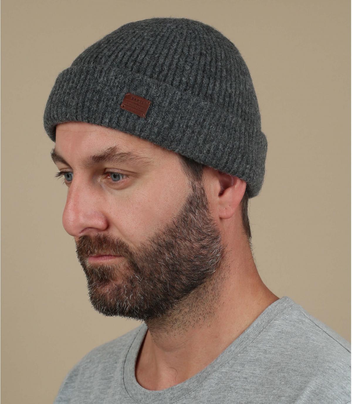 cappello di lana grigio yak