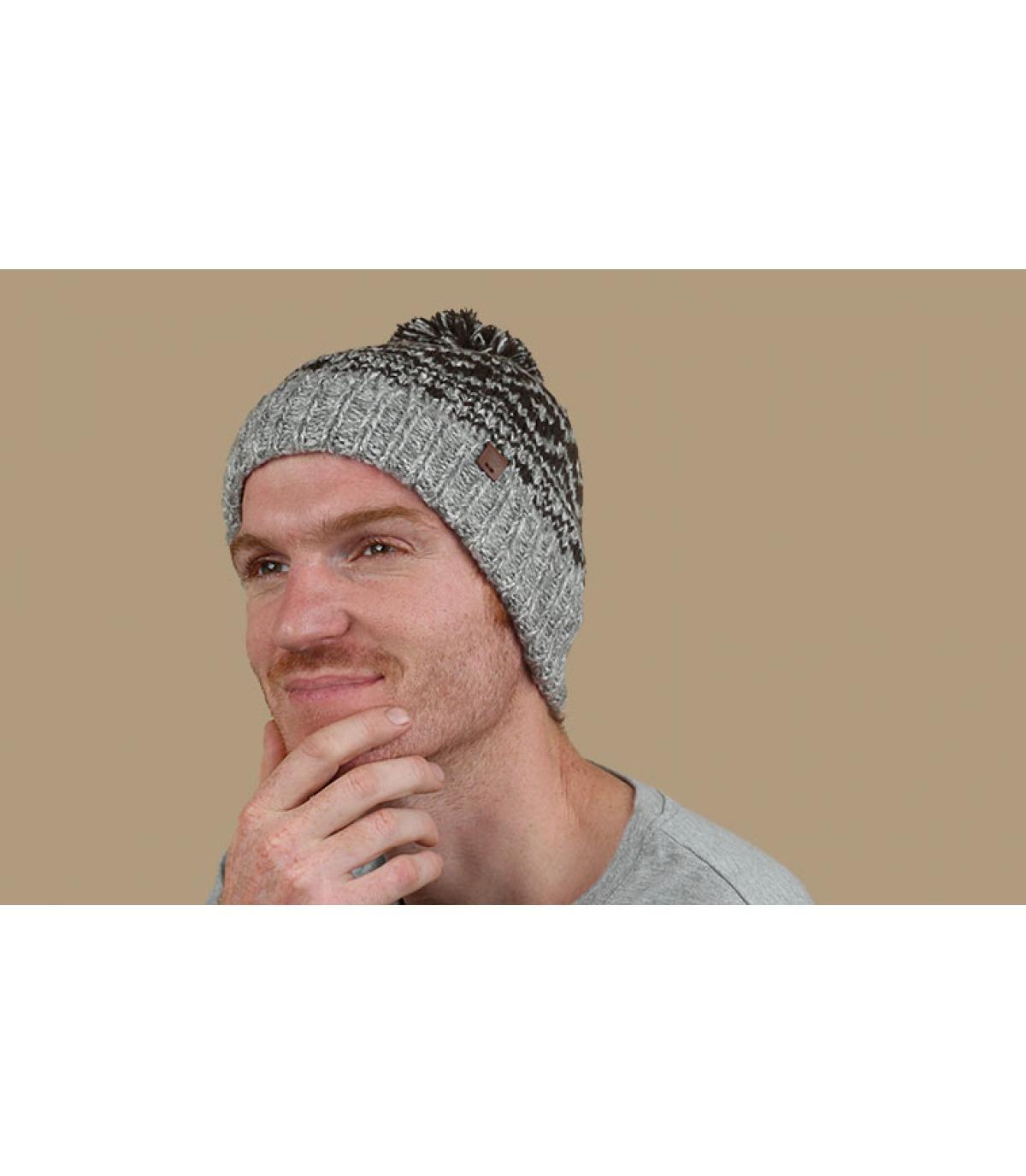 cappello beanie fantasia grigia