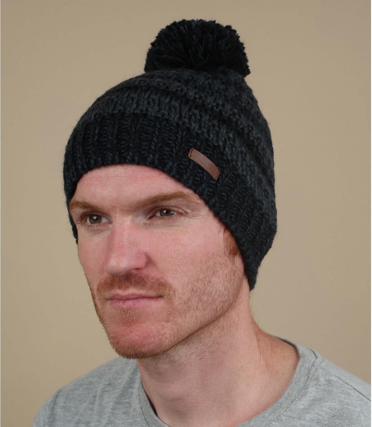 cappello a strisce blu nero