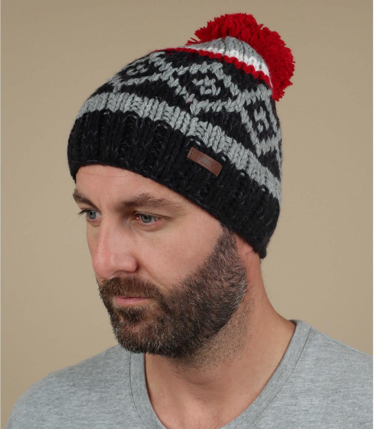 cappello rosso nappa modello blu rosso