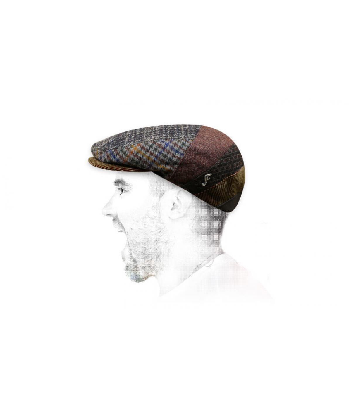 tegola marrone lana berretto