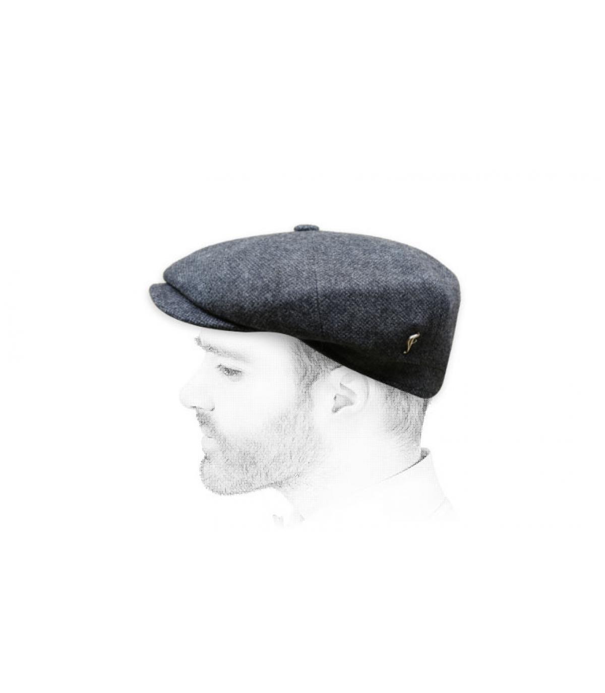 berretto strillone grigio lana
