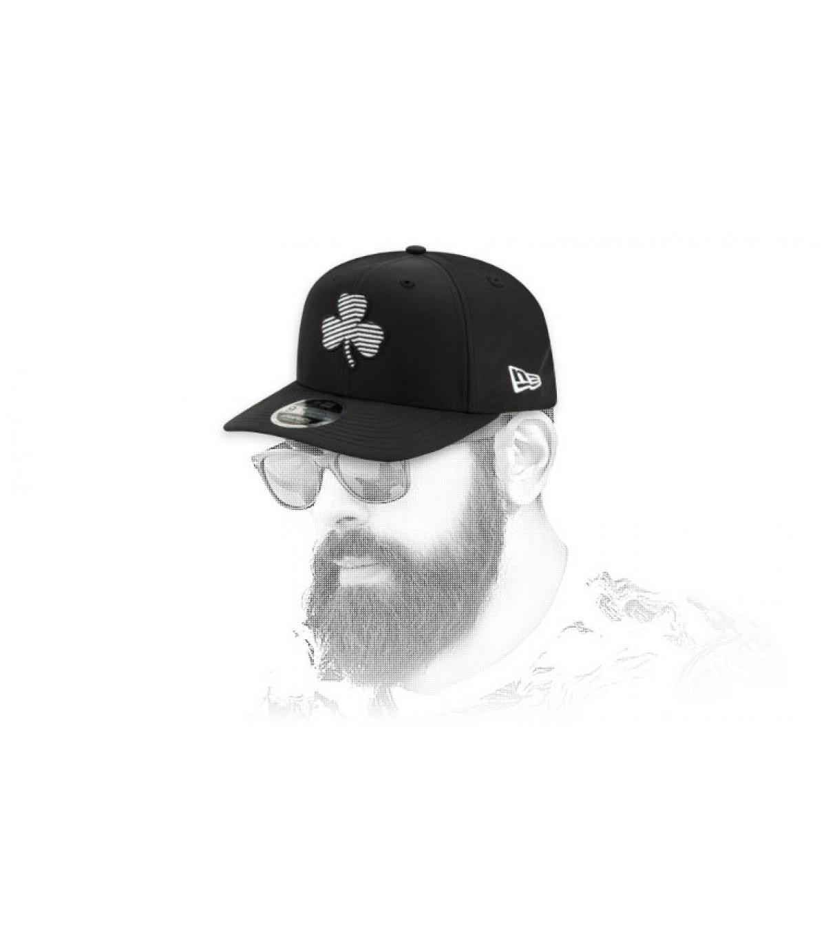 Logo zebra nero snapback di Celtics