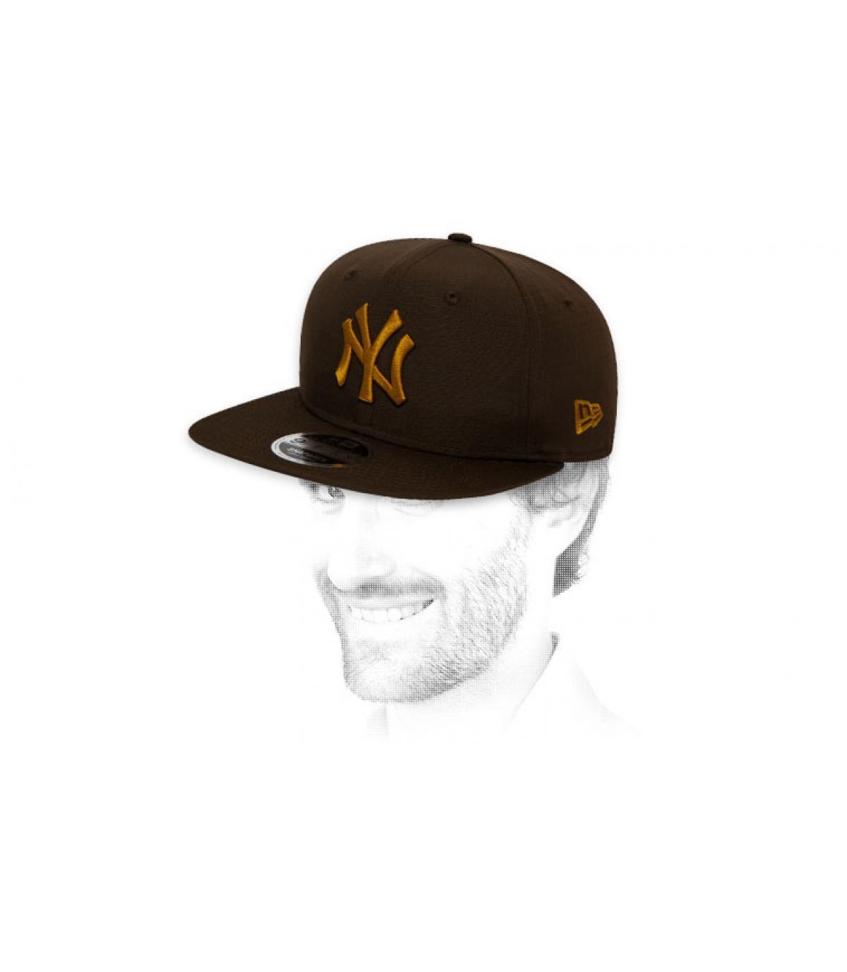snapback NY oro nero