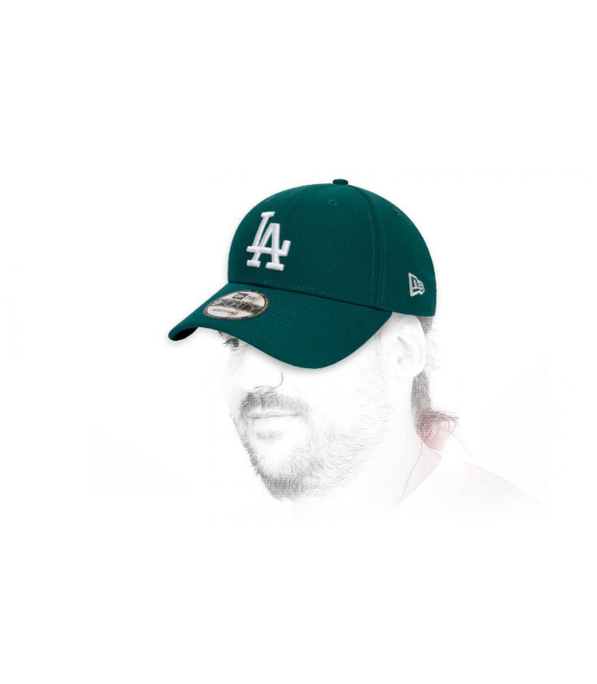 berretto LA verde bianco