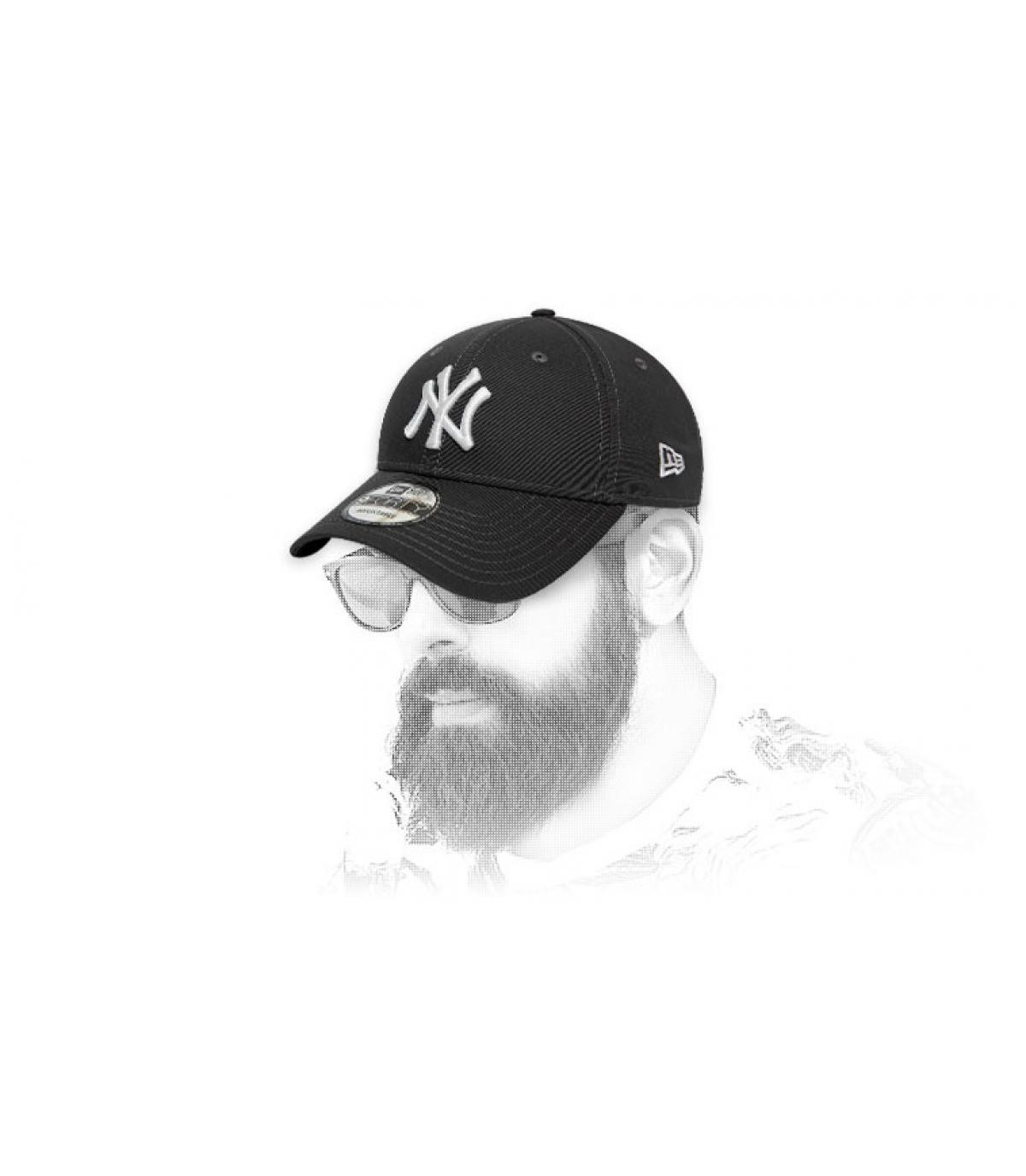 Cappellino NY bianco grigio