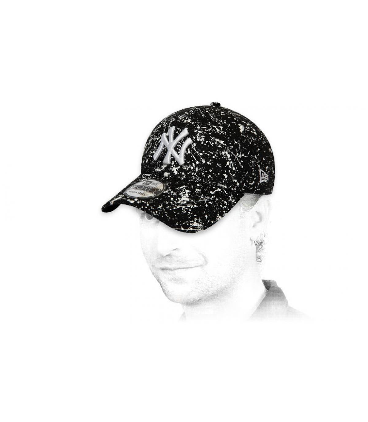 Cappellino NY stampato nero