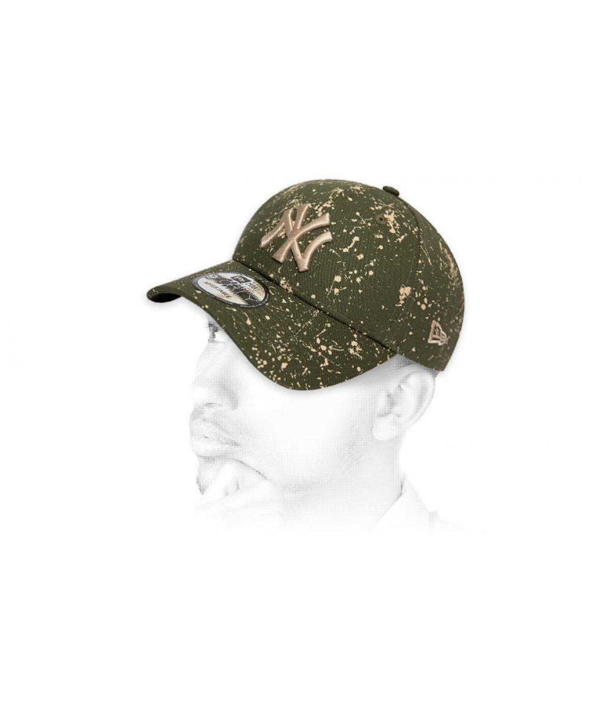 Cappellino NY stampato verde
