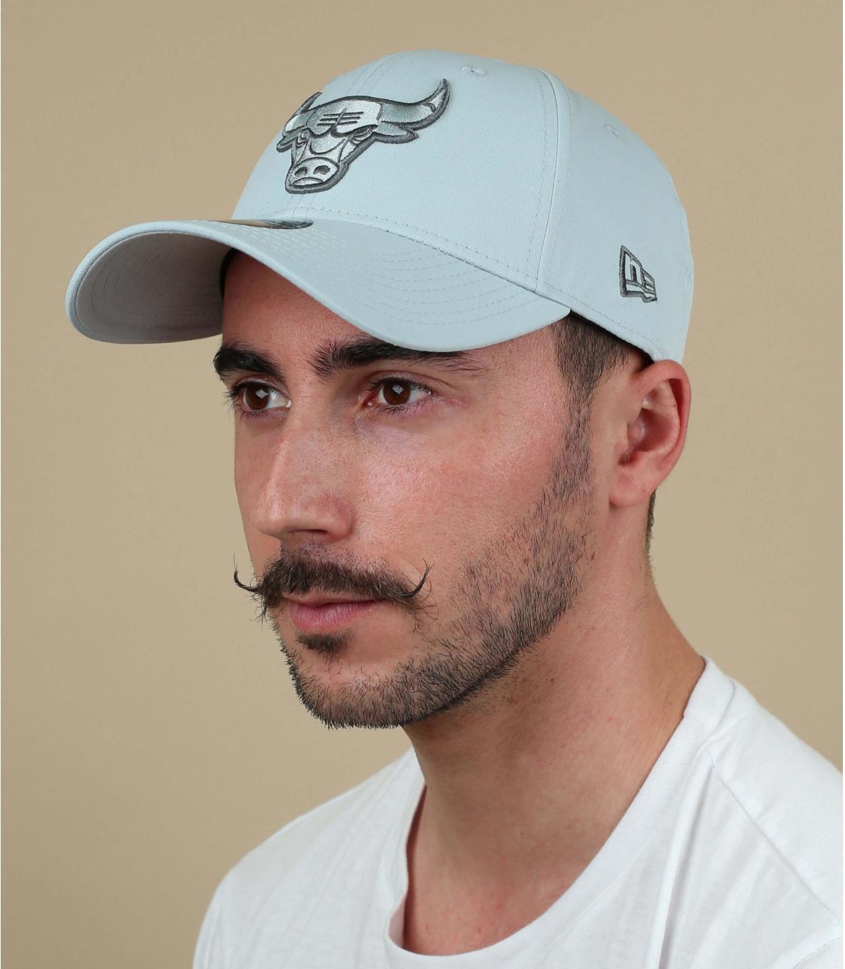 Cappellino Bulls stampato grigio
