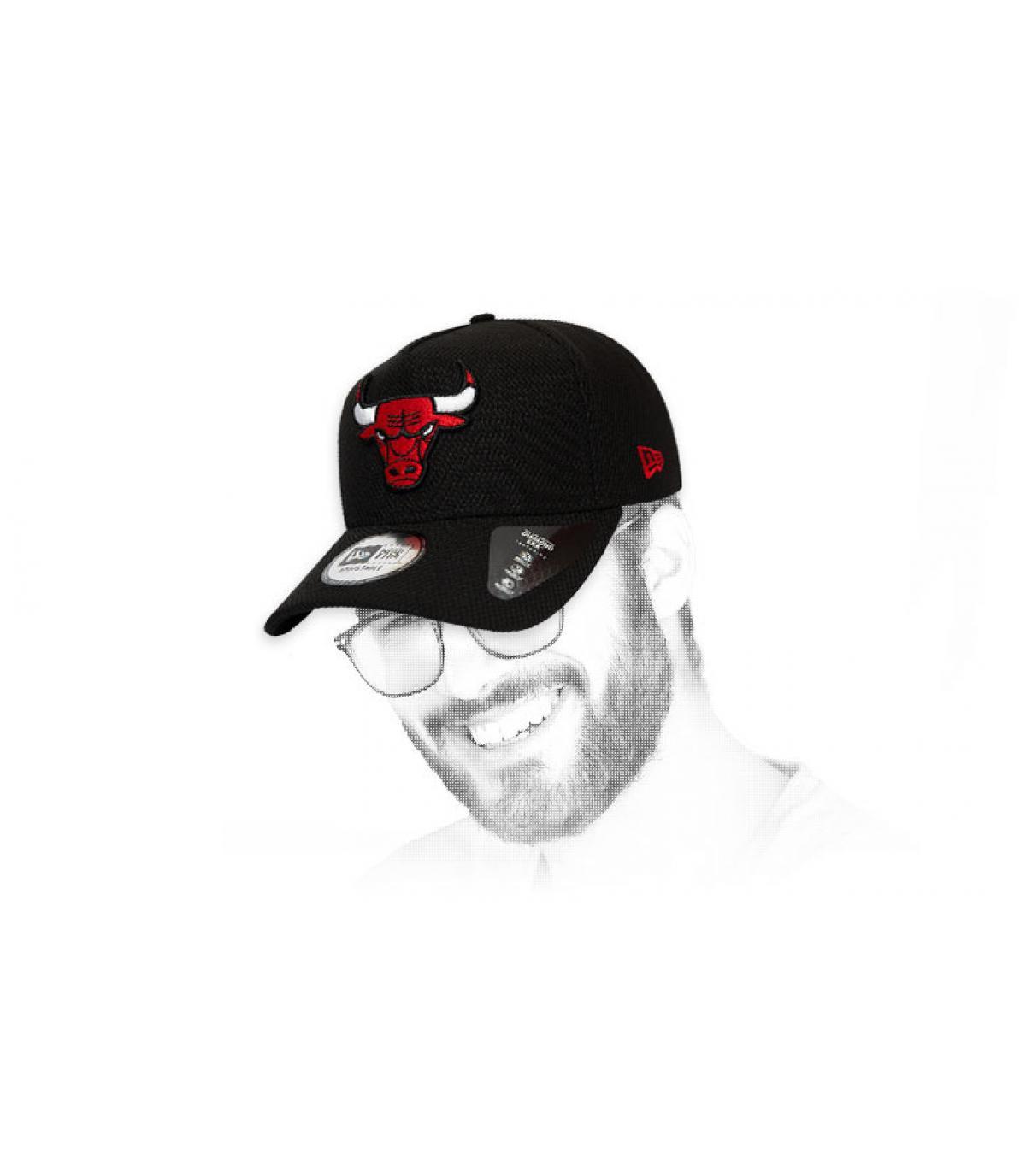 logo berretto nero Bulls