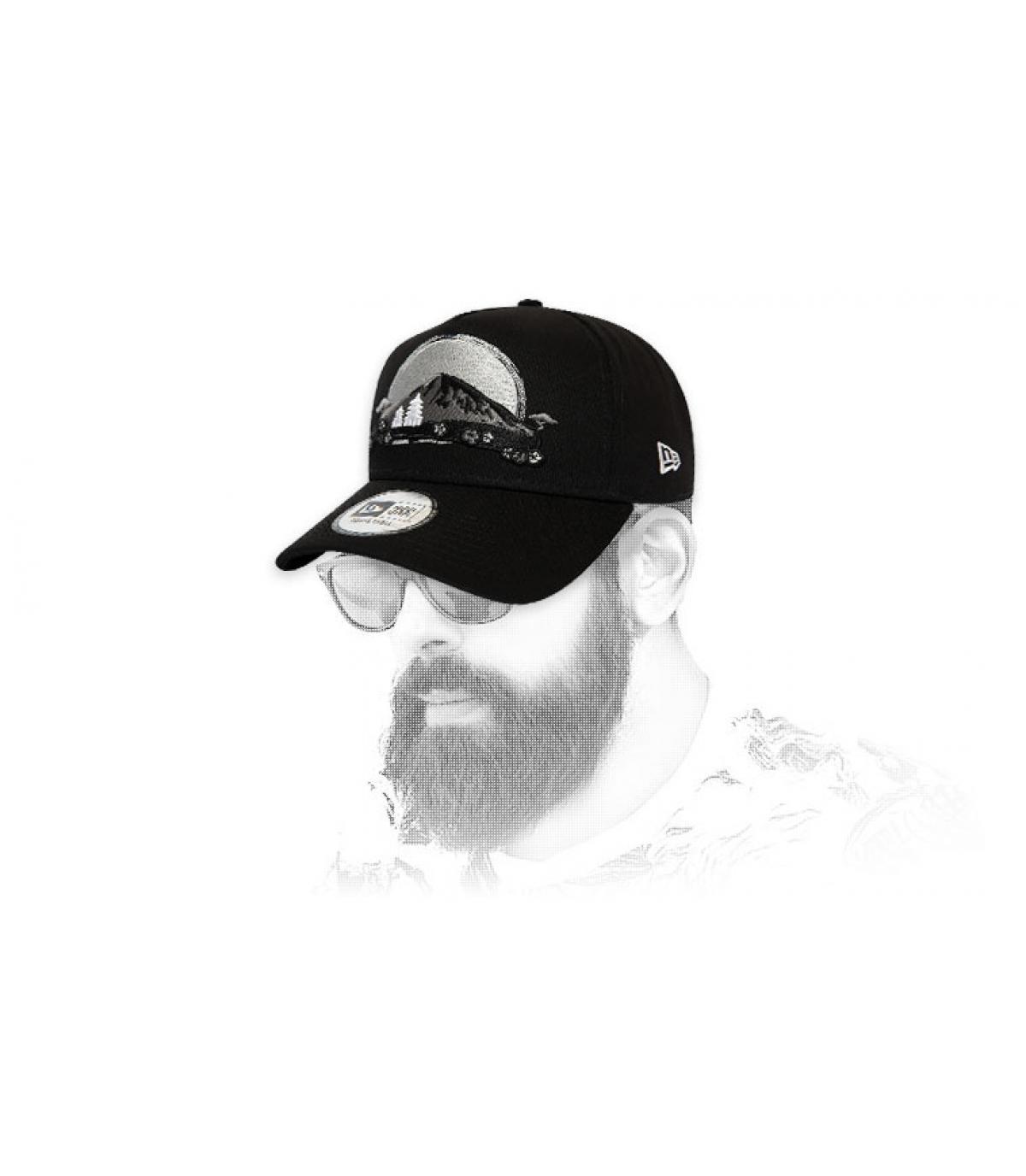 Cappellino ricamato grigio New Era