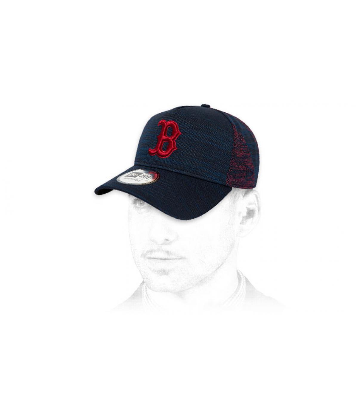 cappuccio B blu rosso