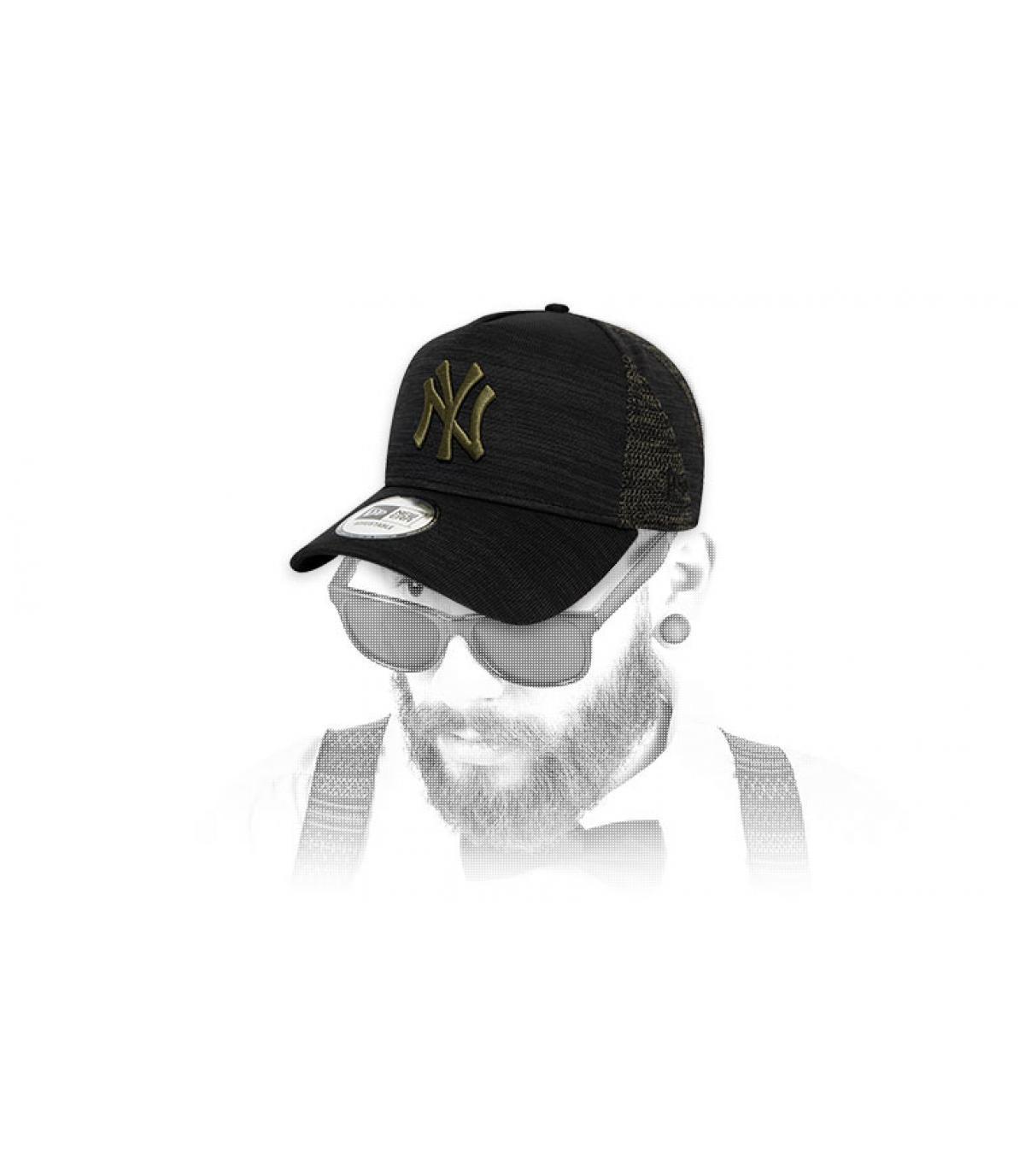 cappellino NY nero verde