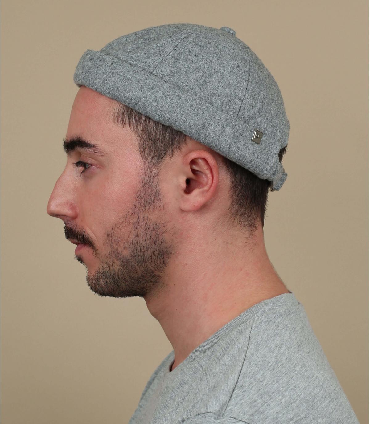 cappello docker in lana grigia New Era