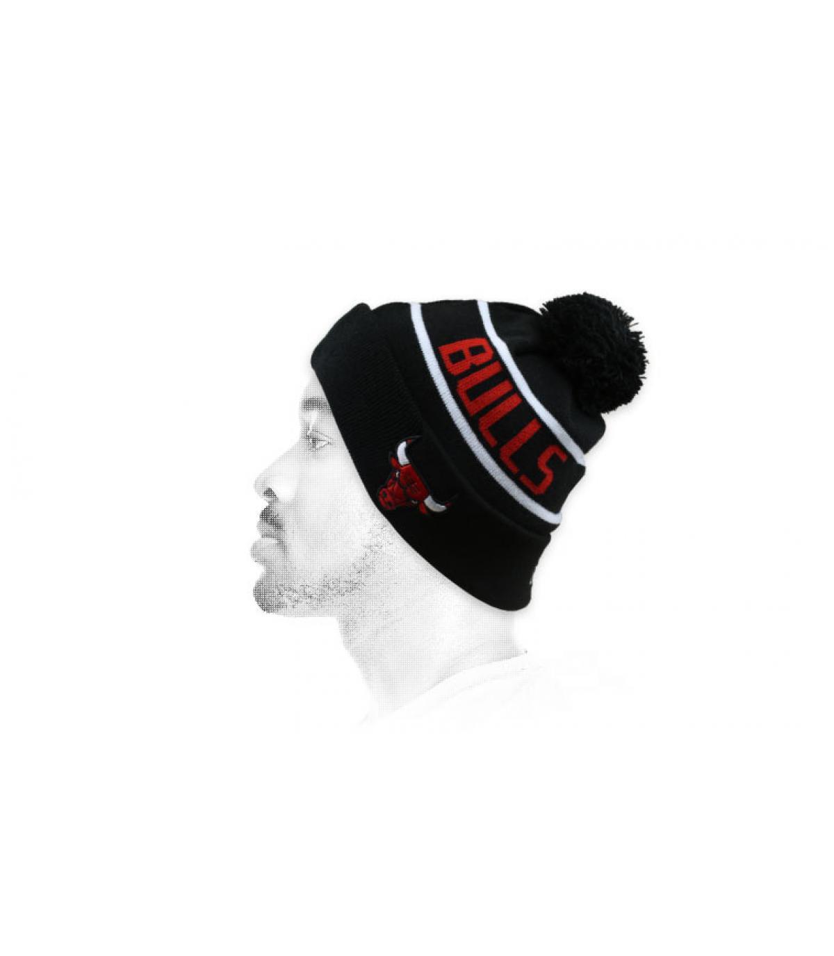 cappello rosso nero dei tori