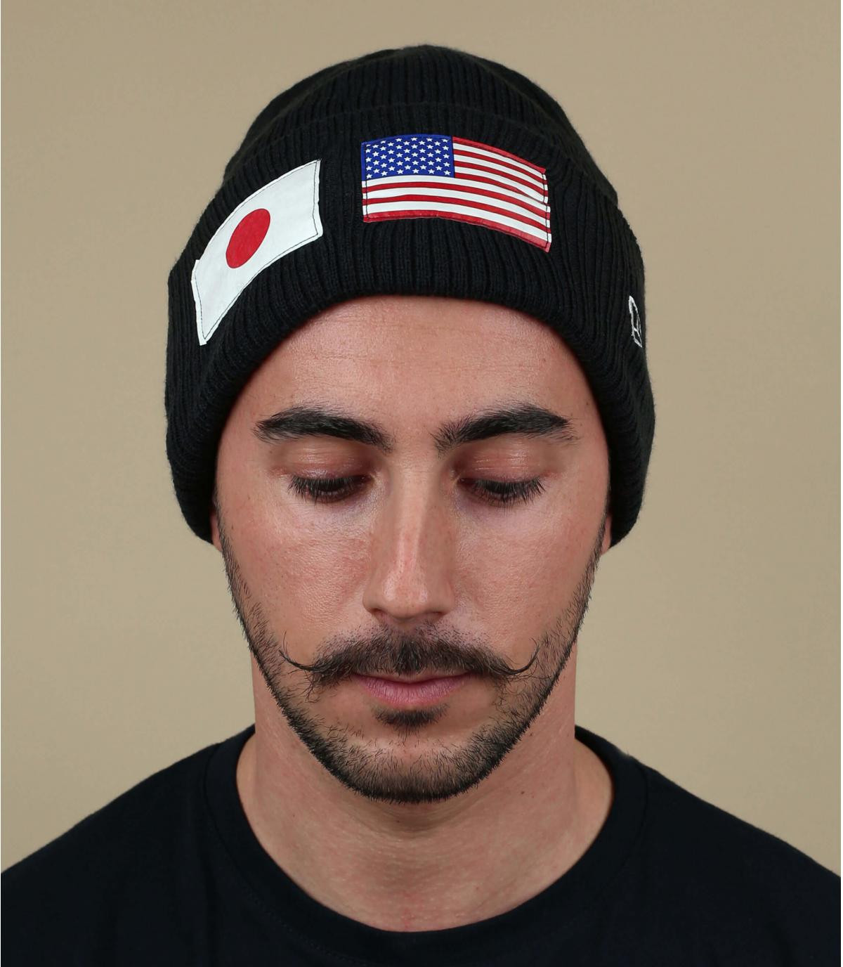 berretto nero bandiera degli Stati Uniti
