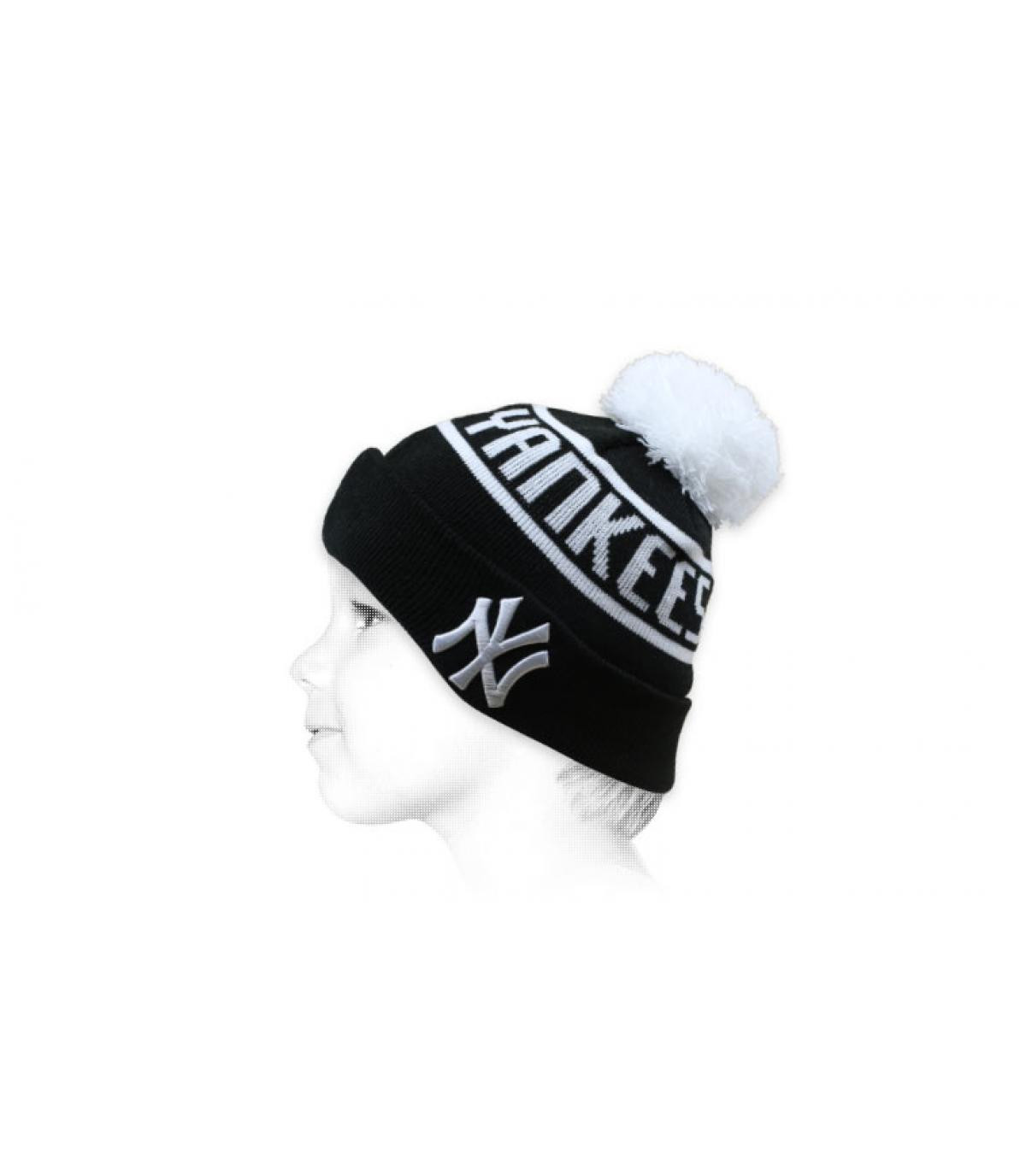 cappello da bambino Yankees nero