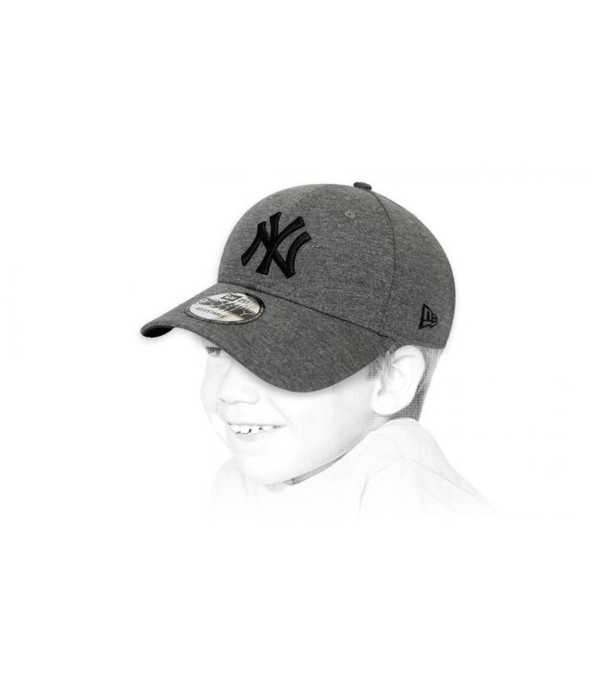 cappellino bambino NY grigio