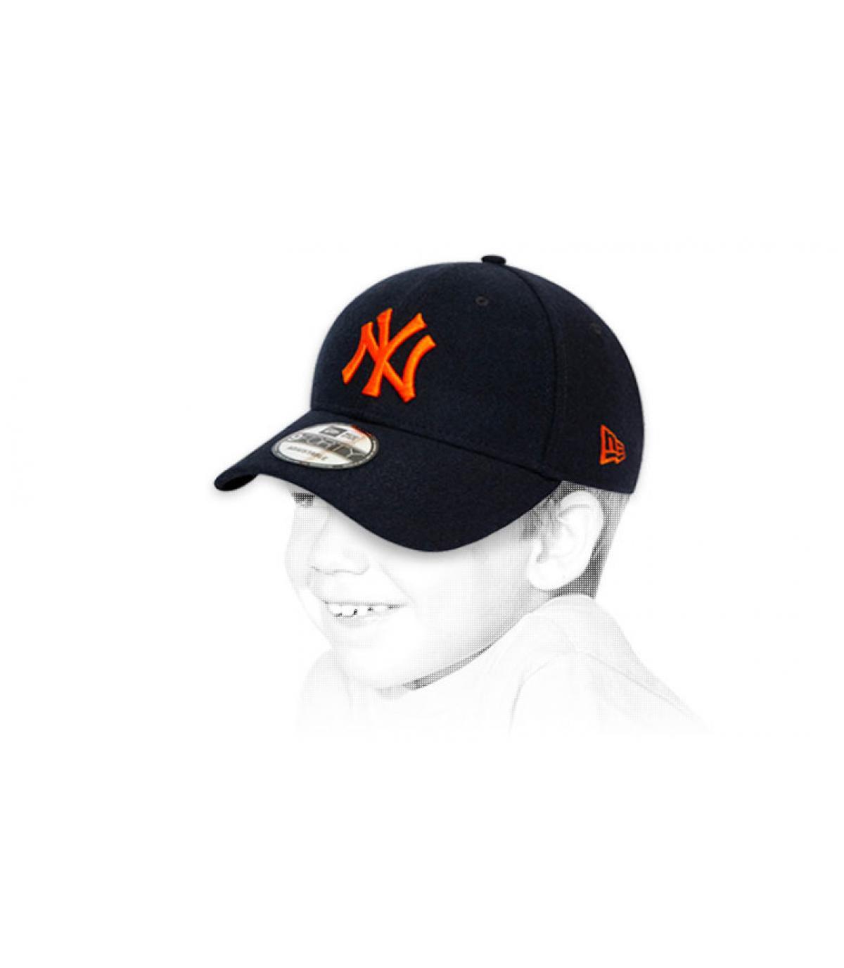 cappellino bambino NY nero