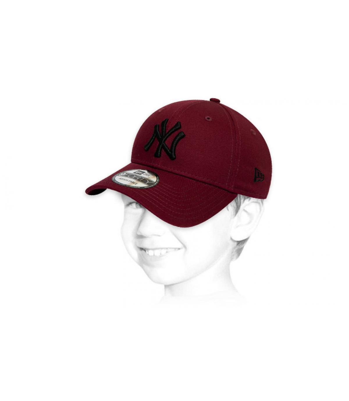 Cappellino per bambini NY Bordeaux