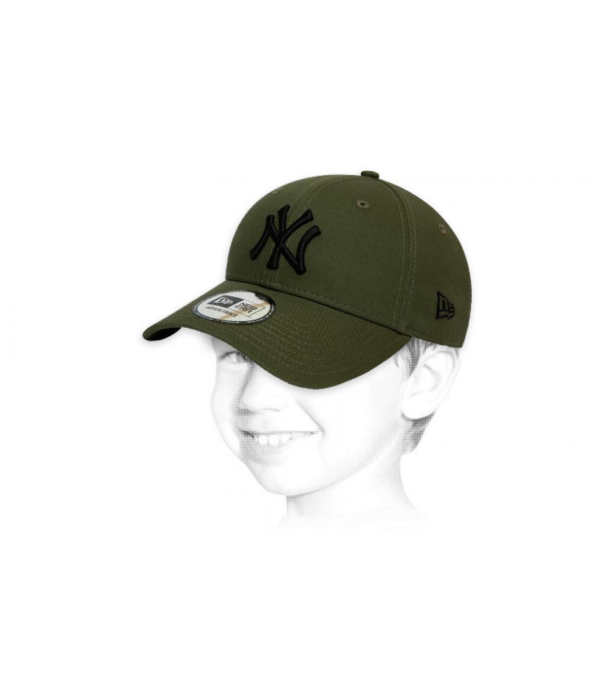 cappellino bambino verde NY