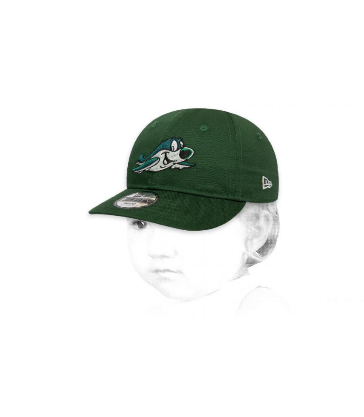 berretto verde per bambini