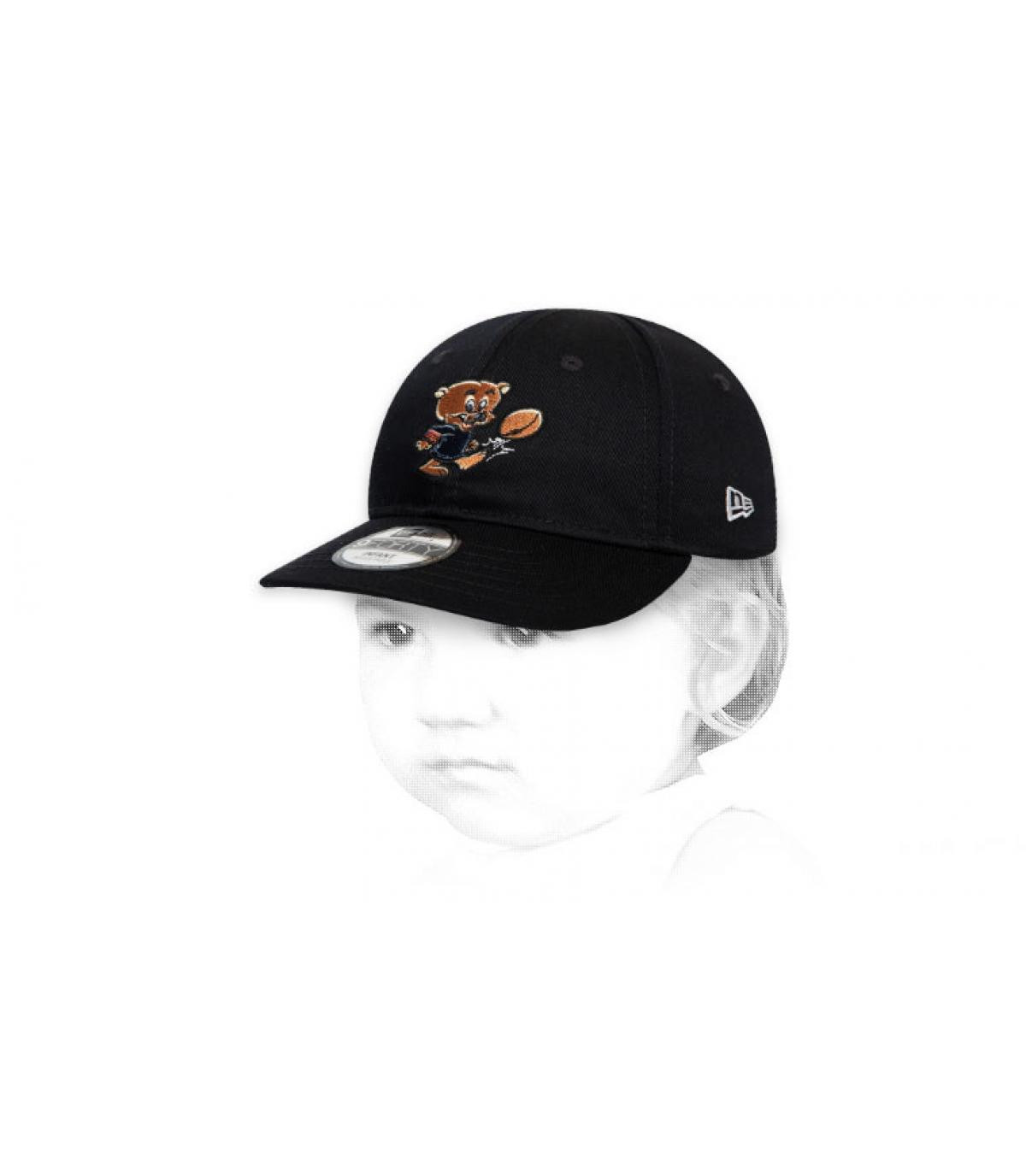 Berretto da bambino nero Bears
