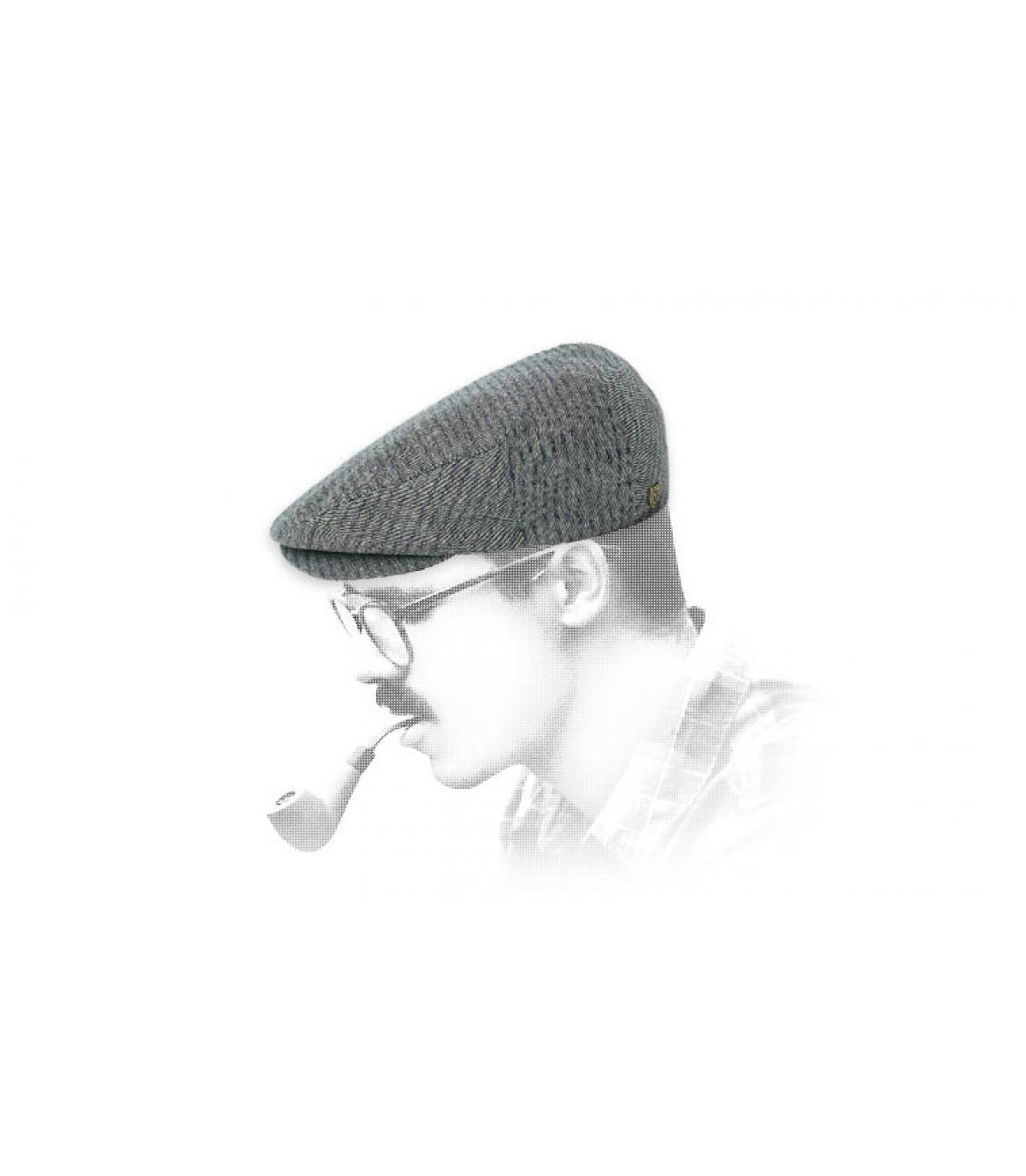 Berretto in cotone grigio Brixton