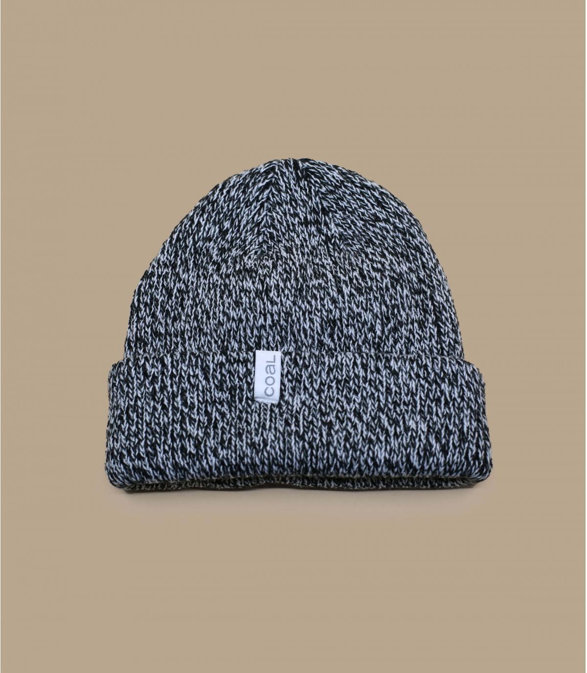 Cappellino con risvolto nero Coal
