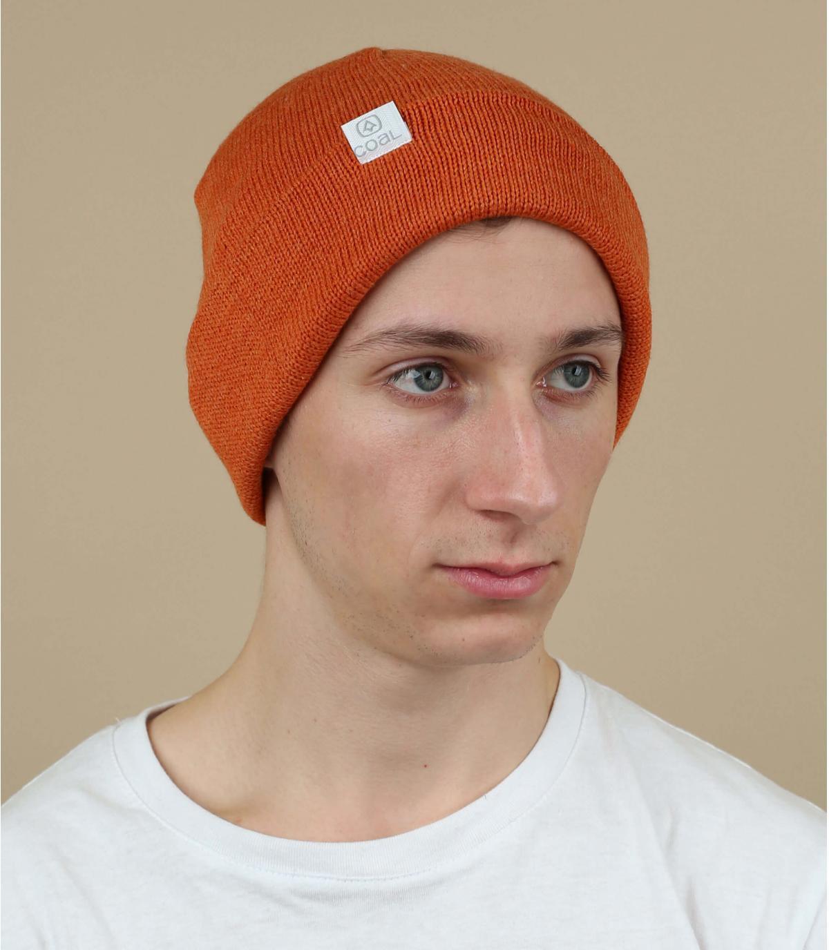 Bavero in risvolto arancione