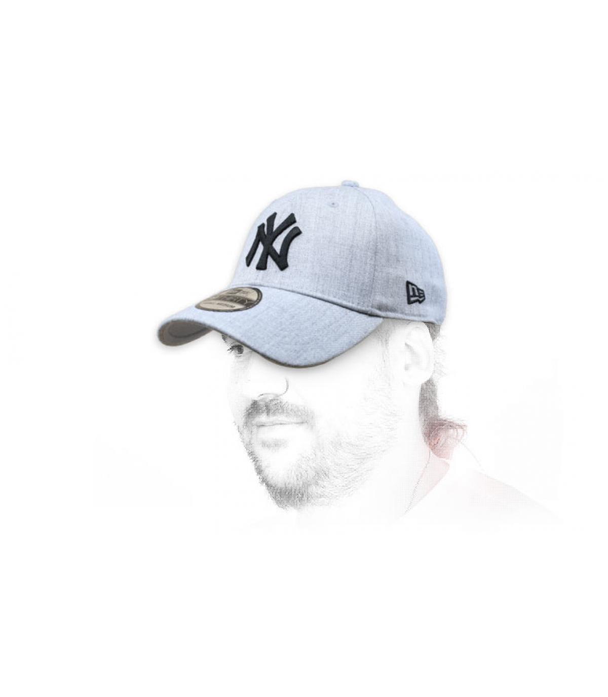 cappellino NY grigio nero