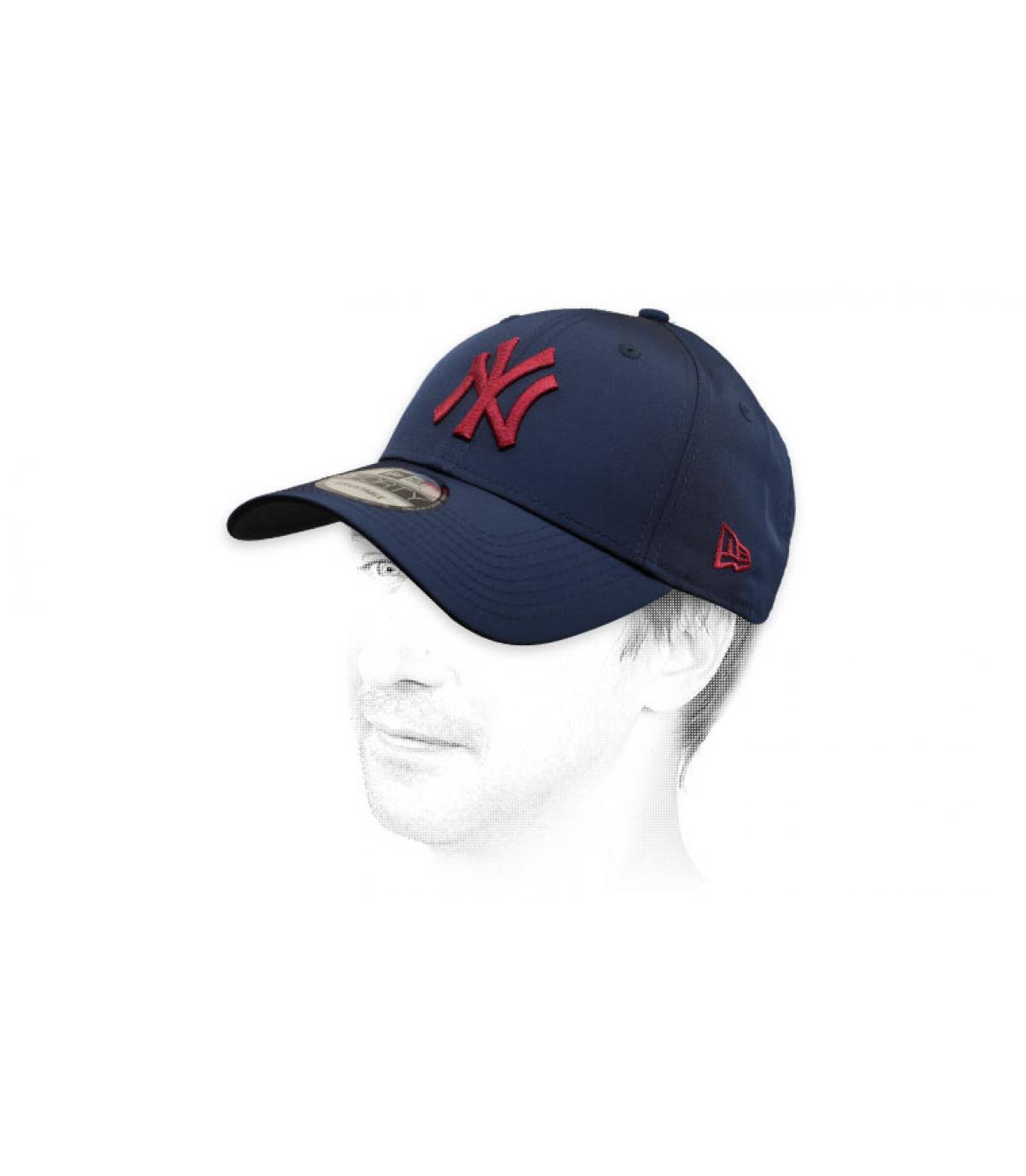 Cappellino bordeaux NY blu