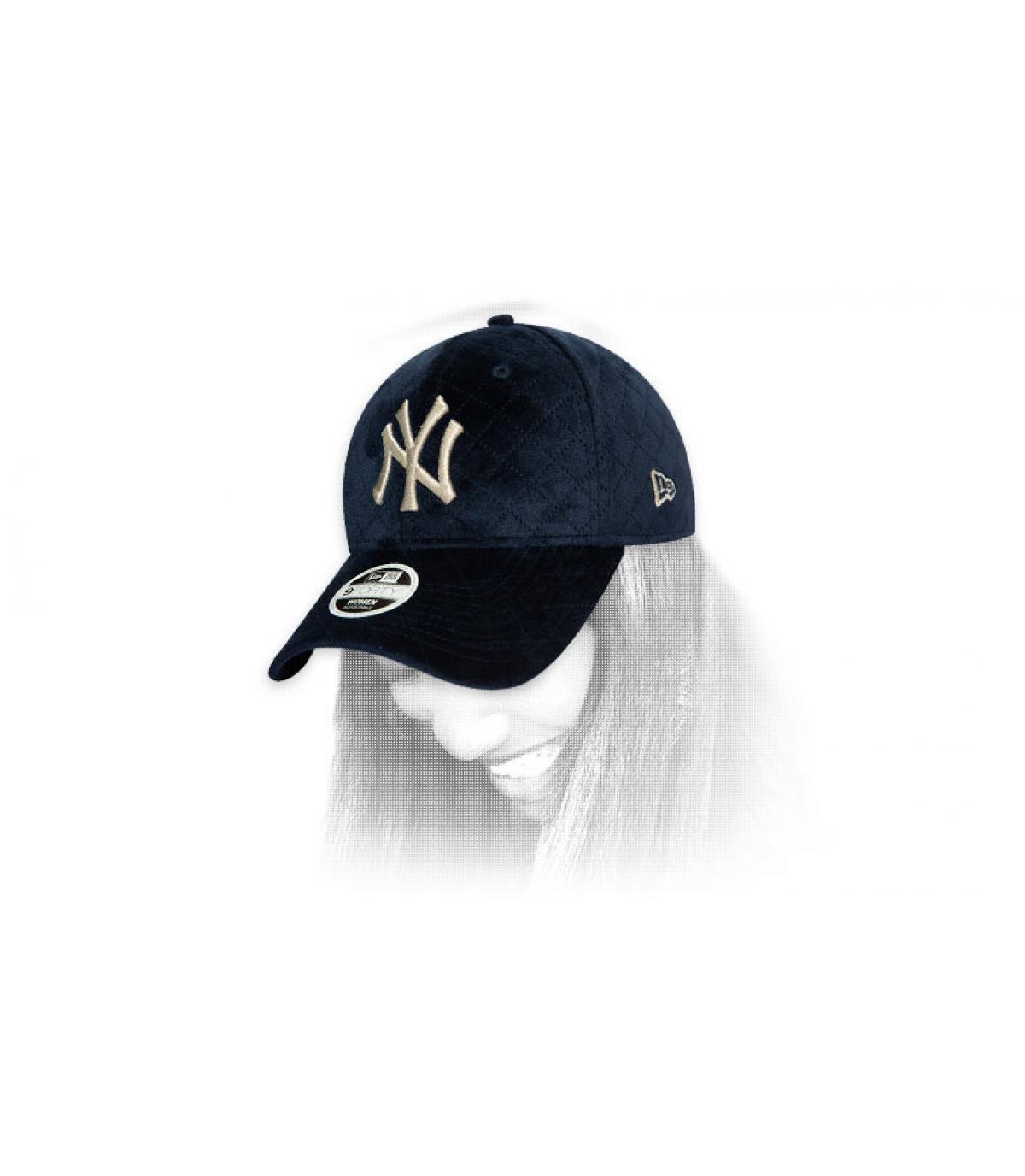 cappello donna NY blu