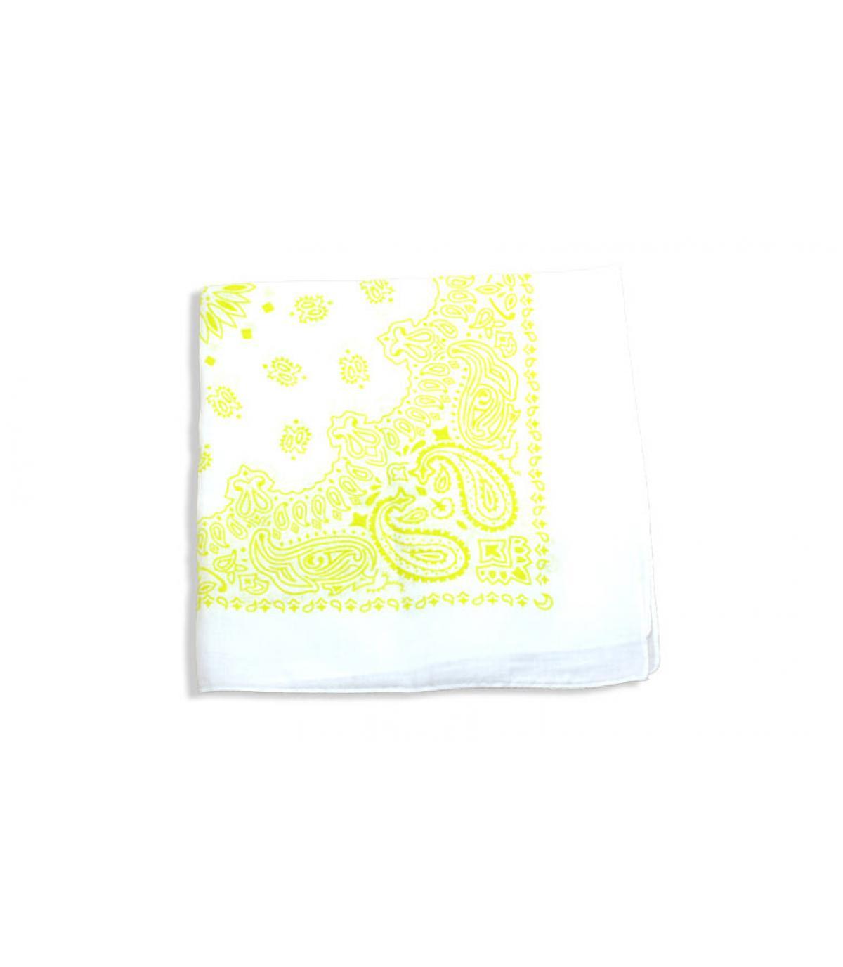 bandana bianca e gialla