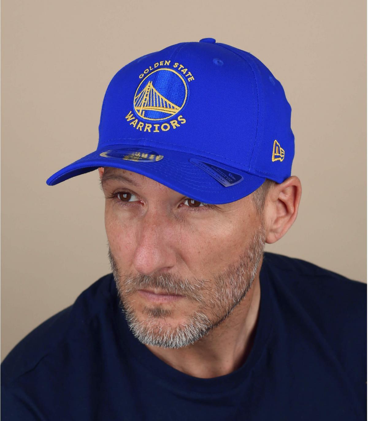 Cappellino blu Warriors