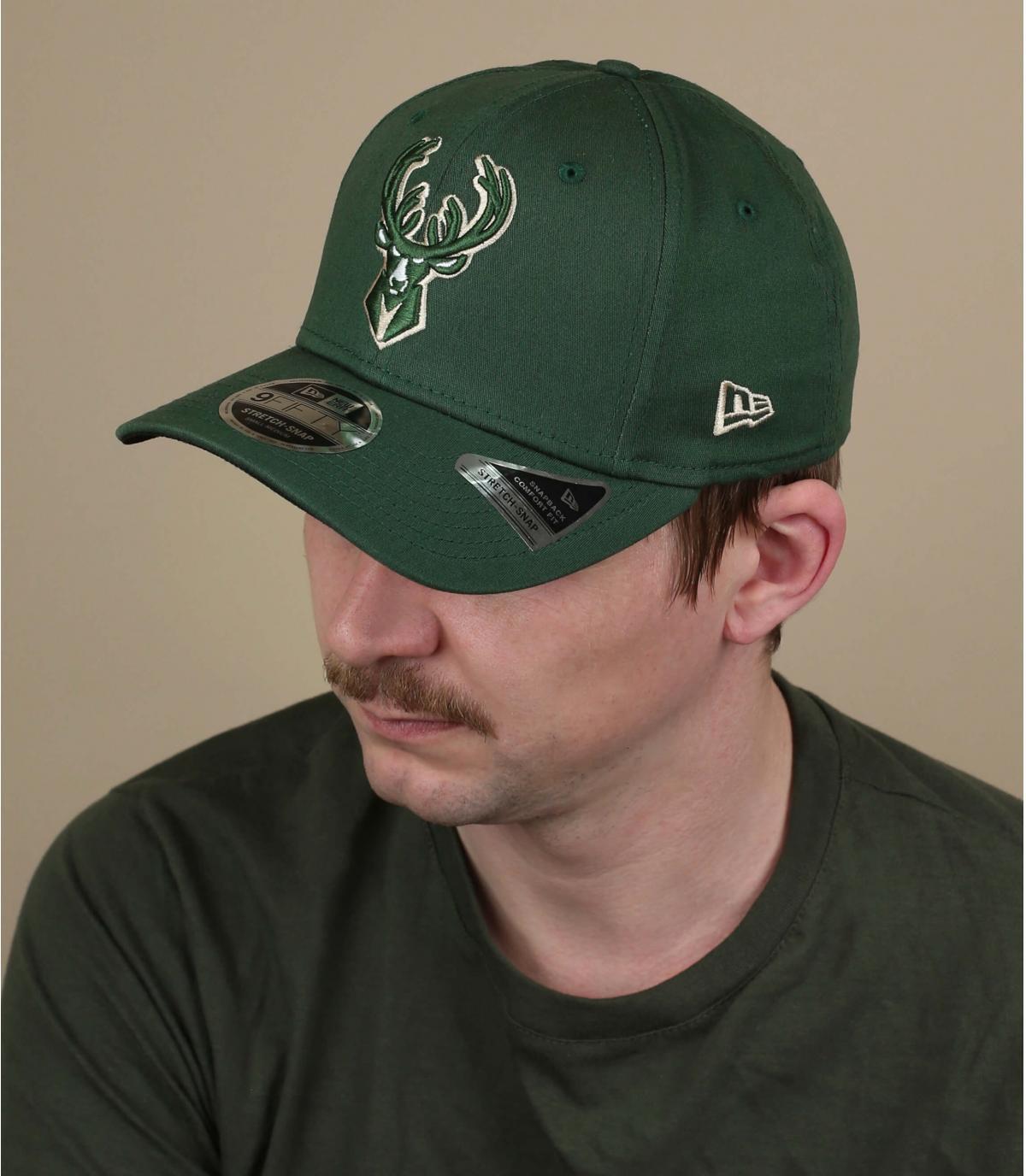 Cappello verde Milwaukee Bucks