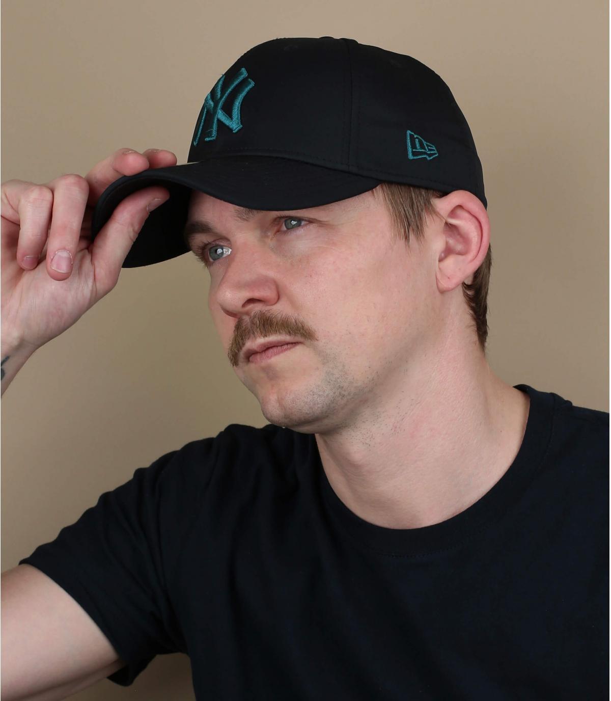 berretto NY nero blu