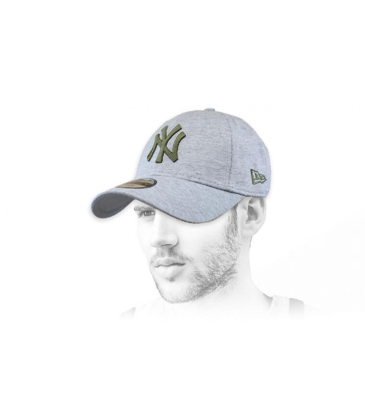 Cappellino verde grigio NY