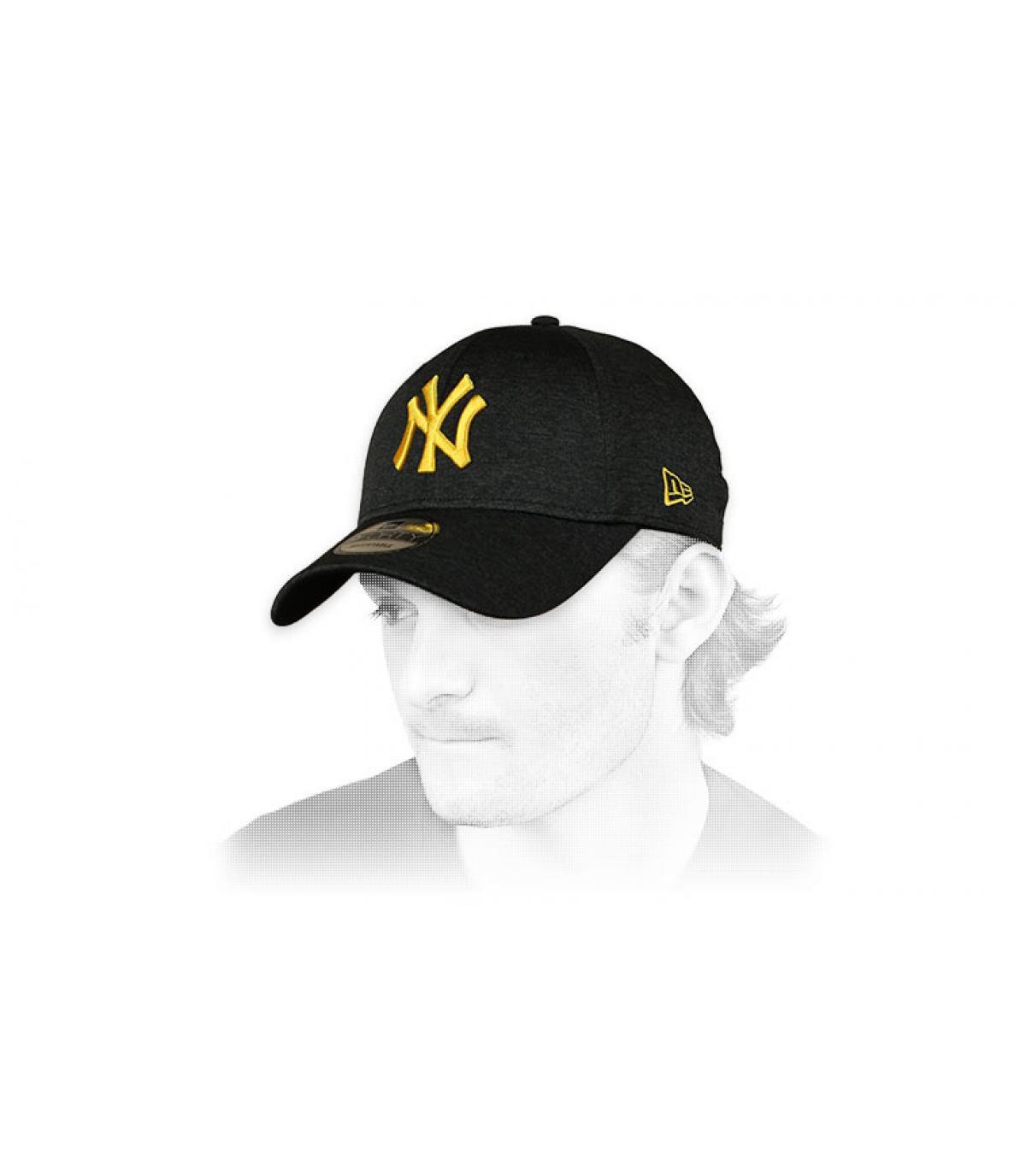 berretto NY nero giallo