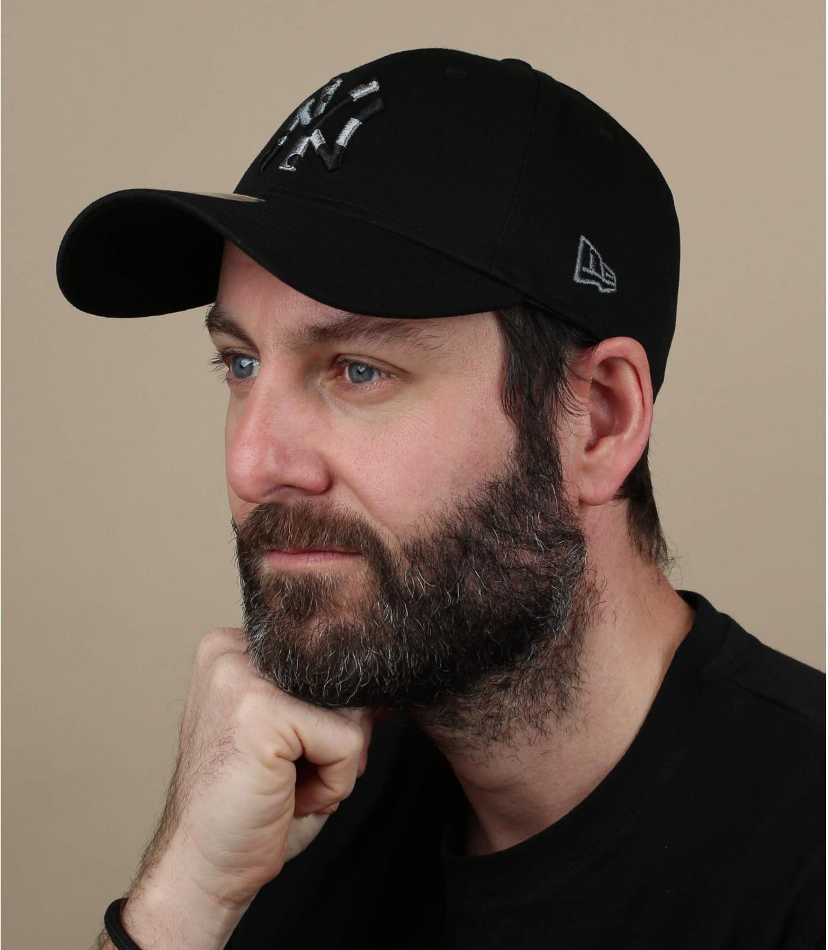 Cappellino mimetico nero NY