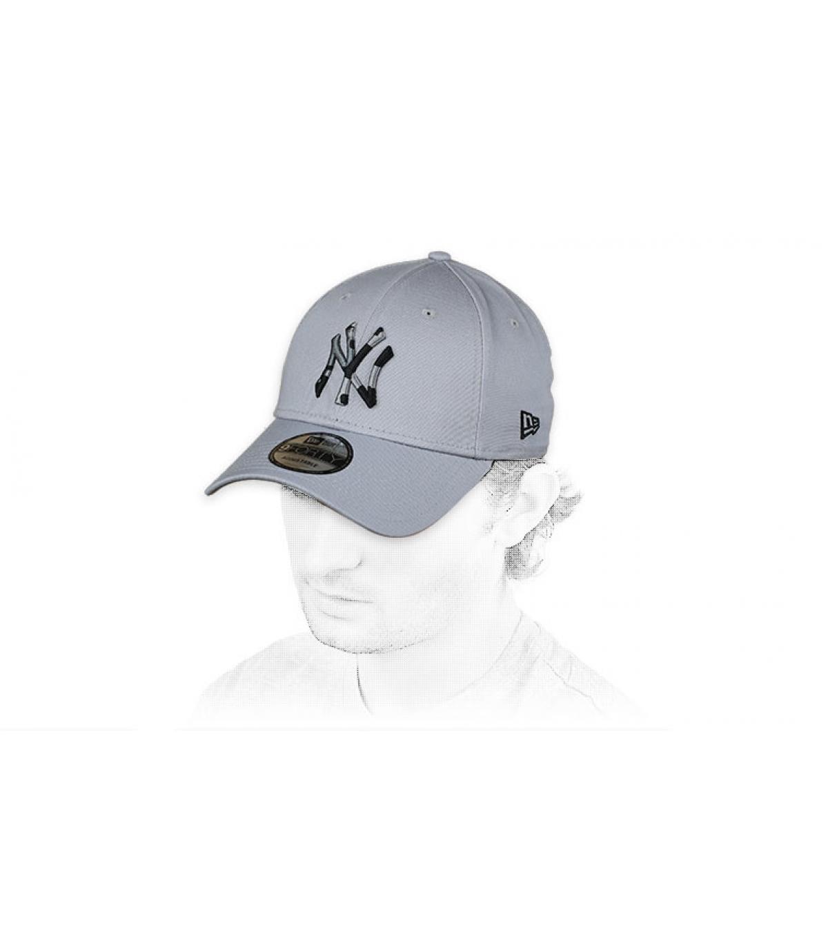 cappello NY mimetico grigio