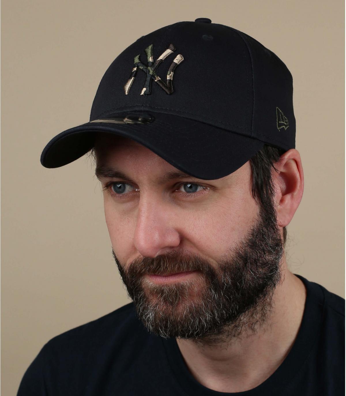 cappellino NY blu mimetico