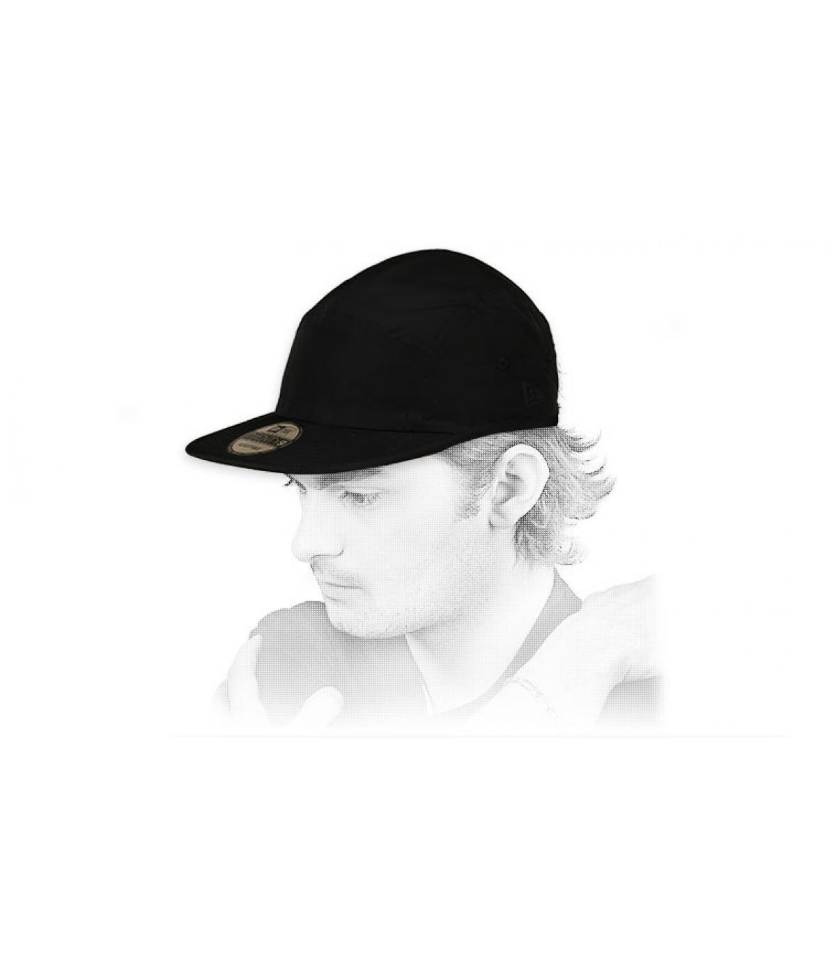 Cappellino pannello nero 5 pannelli New Era