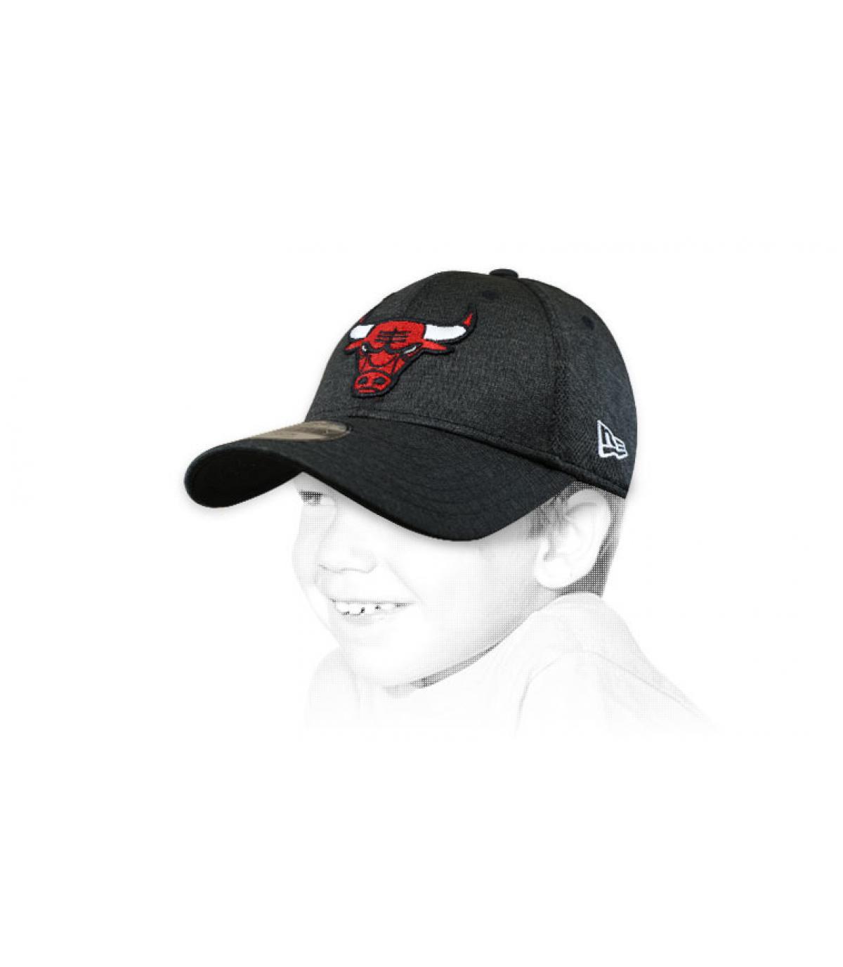 Cappellino bambino bulls nero
