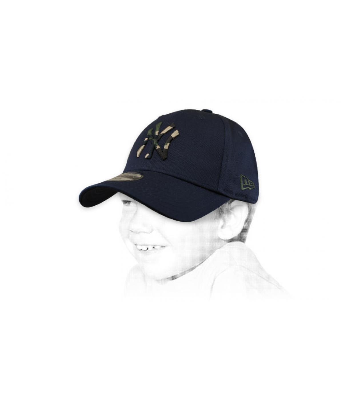 cappellino bambino NY blu mimetico