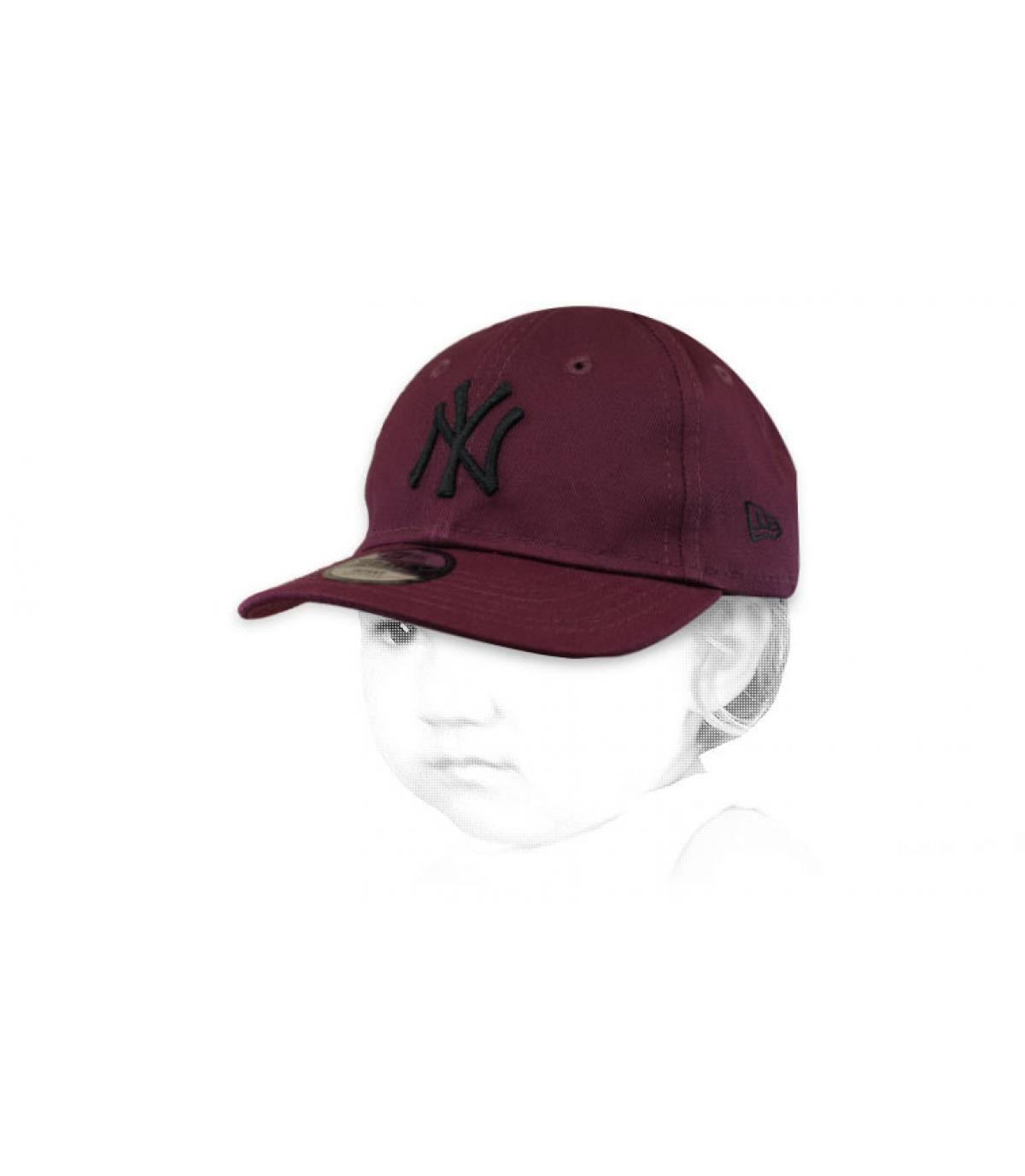 Cappellino NY bordeaux
