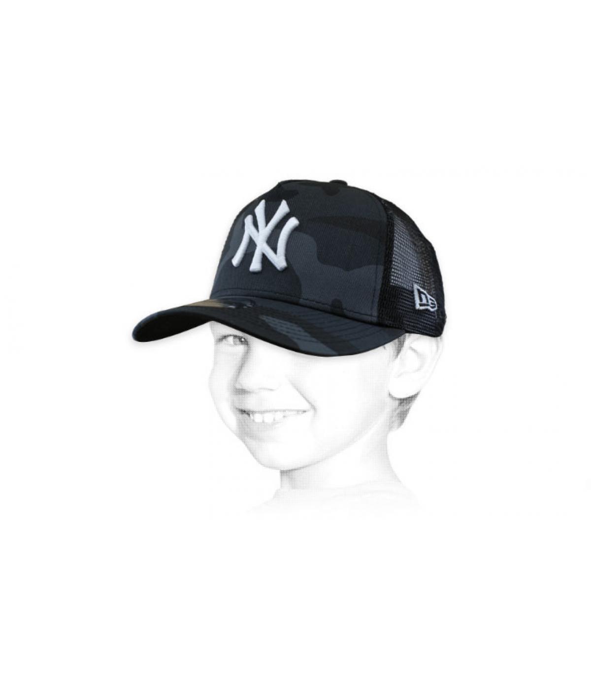 camionista bambino NY grigio mimetico
