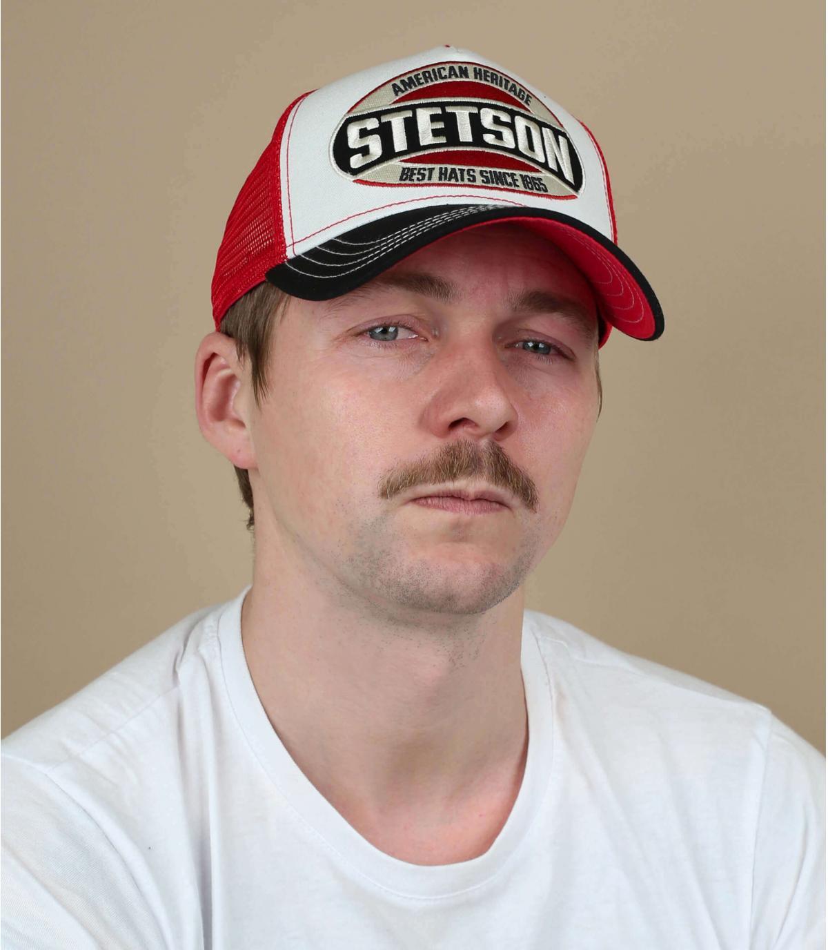 trucker rosso bianco blu di Stetson