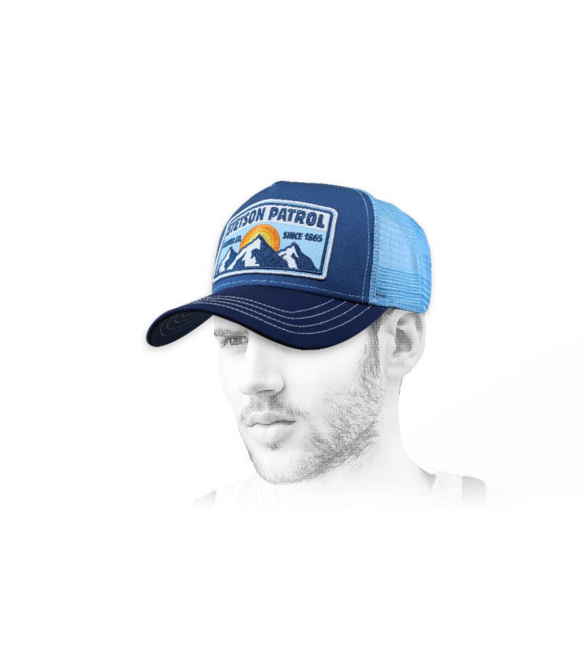 trucker blu stetson